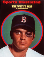 The Sports Illustrated cover of Tony Conigliaro's eye injury