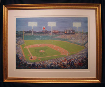 Framed Fenway Park painting